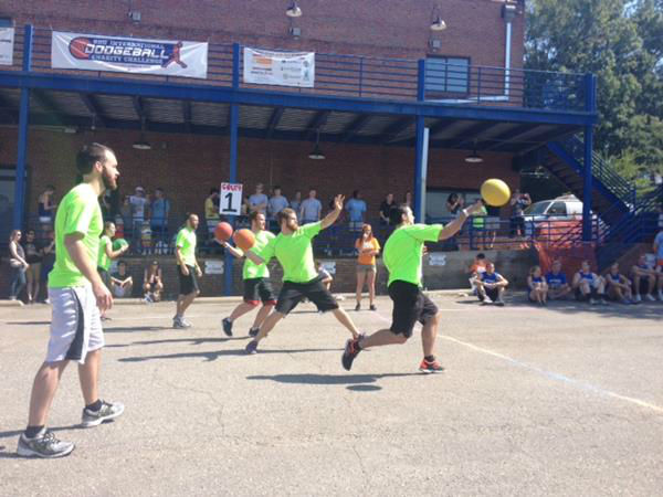 At the RDU International Dodgeball Charity Challenge, teams from local companies competed and helped raise money for the Boys and Girls Club of Wake County <span class=meta>(WTVD Photo)</span>
