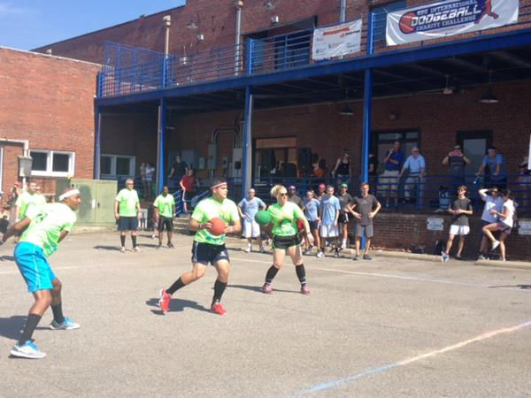 At the RDU International Dodgeball Charity Challenge, teams from local companies competed and helped raise money for the Boys and Girls Club of Wake County <span class=meta>(WTVD Photo&#47; Lori Denberg)</span>