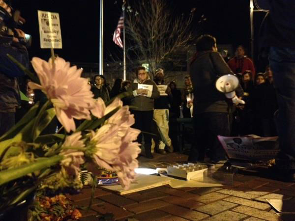 Dozens gathered in downtown Durham and marched to Durham Police Headquarters Thursday night. In the end, police fired tear gas at some protesters. <span class=meta>(Photo&#47;WTVD Photo)</span>