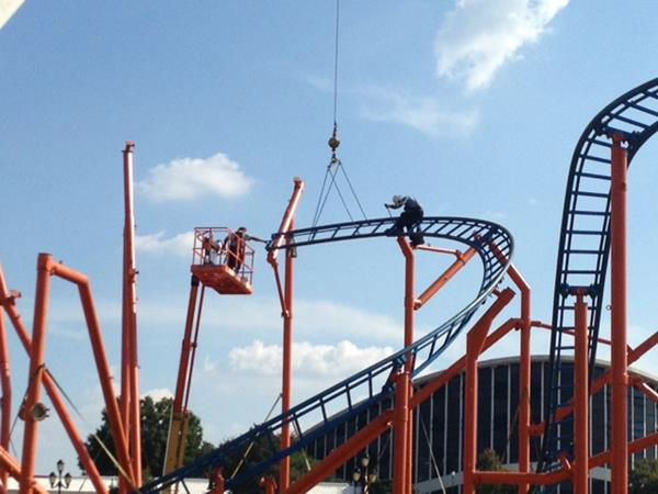 Behind the scenes as crews get the State Fairgrounds ready for the fair <span class=meta>(WTVD Photo&#47; Lori Denberg)</span>