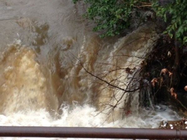 Cross Creek in Fayetteville is on the rise after a morning of heavy rain  <span class=meta>(WTVD Photo&#47; Lou Guilette)</span>