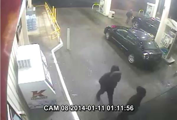 Police need help finding two suspects that have been linked to four armed robberies between Friday and Saturday. <span class=meta>(WTVD Photo&#47; Courtesy: Fayetteville Police Department)</span>
