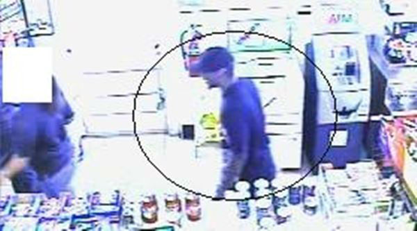 "<div class=""meta ""><span class=""caption-text "">Surveillance photos from two convenience store robberies show the suspect wearing the same white sneakers to both (WTVD Photo/ Fayetteville Police Department)</span></div>"
