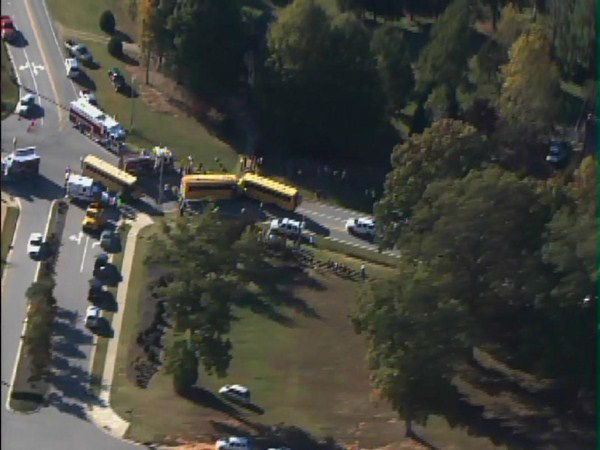 "<div class=""meta image-caption""><div class=""origin-logo origin-image ""><span></span></div><span class=""caption-text"">A bus from Franklinton Elementary and another from Youngsville Elementary collided at Bert Winston and Hicks Roads.  (WTVD Photo/ ABC11 Chopper HD)</span></div>"