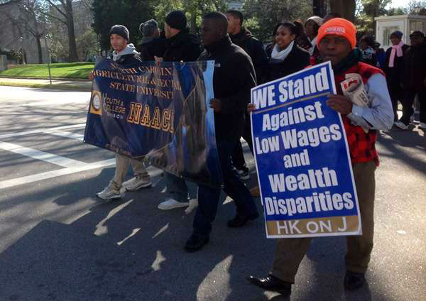 "<div class=""meta ""><span class=""caption-text "">The 7th annual demonstration organized by the NAACP and other civil rights groups, on behalf of the poor and working poor in NC (WTVD Photo/ Anthony Wilson)</span></div>"
