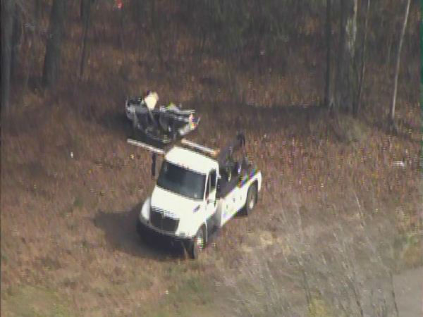 The driver was not injured in the crash, but traffic was backed up for miles Sunday <span class=meta>(WTVD Photo)</span>