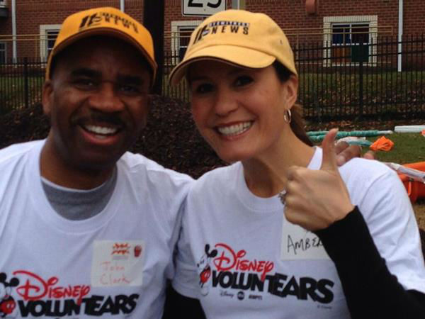 ABC11 staffers joined dozens of community volunteers Saturday to build a new playground.