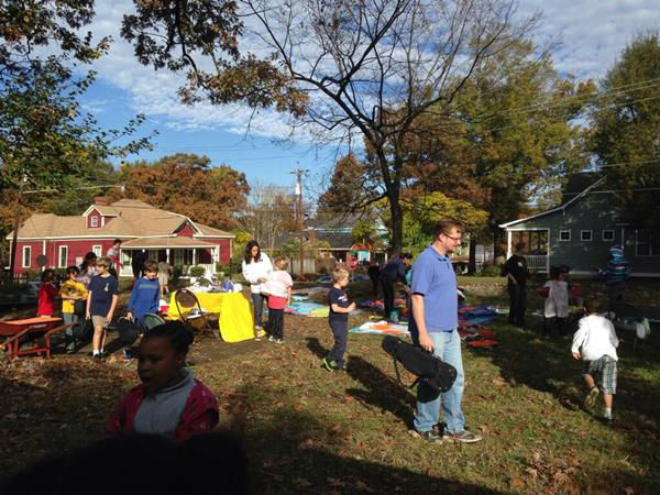 ABC11 staffers joined dozens of community volunteers to build a new playground for children at Durham's Oakwood Avenue Park