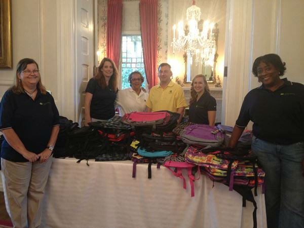 "<div class=""meta image-caption""><div class=""origin-logo origin-image ""><span></span></div><span class=""caption-text"">The governor and first lady gave away more than 200 backpacks filled with school supplies to military children at the Executive Mansion (Photo/Photo courtesy: McCrory staffmember)</span></div>"