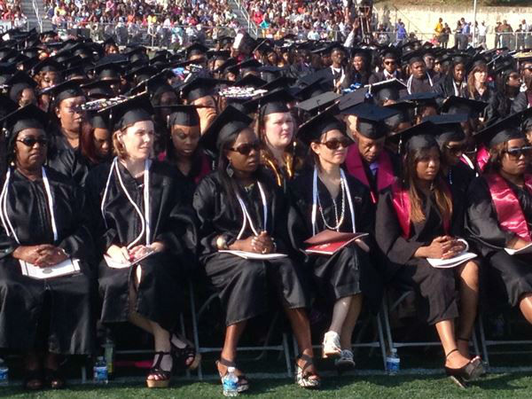 "<div class=""meta ""><span class=""caption-text "">The university awarded more than 700 bachelor's degrees on Saturday (WTVD Photo/ Jeff Hinkle)</span></div>"