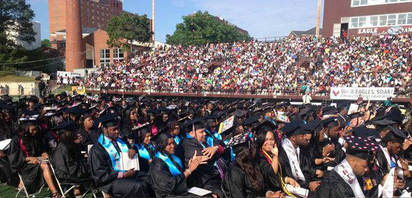 The university awarded more than 700 bachelor&#39;s degrees on Saturday <span class=meta>(WTVD Photo&#47; Jeff Hinkle)</span>