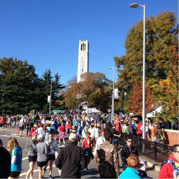 More than 5,500 runners took part in all the races involved in Sunday&#39;s Raleigh City of Oaks Marathon. <span class=meta>(WTVD Photo)</span>