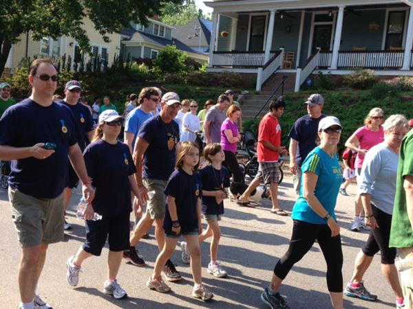 The 5K Walk for Jason and Jess took place in Raleigh&#39;s Oakwood neighborhood Saturday morning <span class=meta>(WTVD Photo&#47; Lori Denberg)</span>