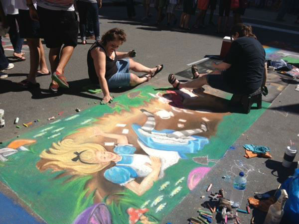 SPARKcon festival goers left their mark on the streets of downtown Raleigh this weekend <span class=meta>(WTVD Photo&#47; Lori Denberg)</span>