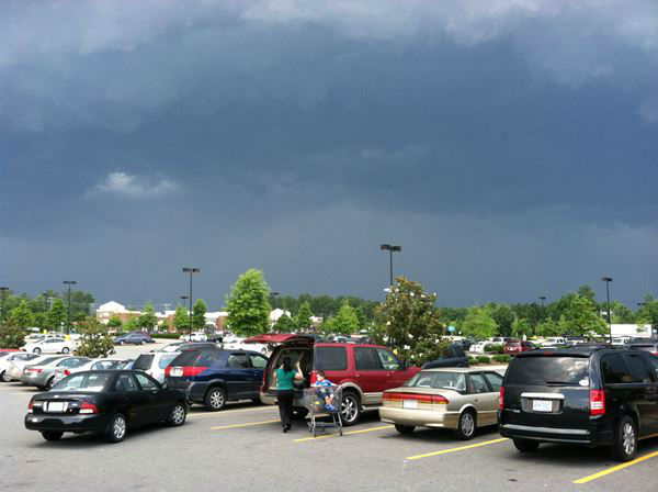 ABC11 viewers sent in photos from storms moving in across the viewing area Thursday evening
