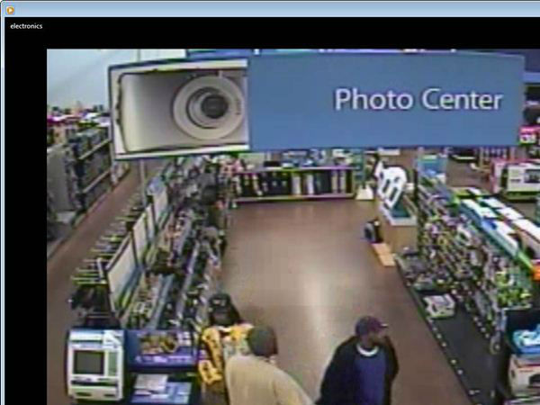 "<div class=""meta ""><span class=""caption-text "">Three people are suspected of stealing digital cameras and laptop computers from the Walmart at the Shoppes of Holly Springs on N.C. 55. (WTVD Photo/ Holly Springs Police Department)</span></div>"