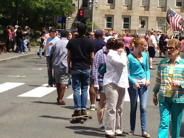 We found several people spending Mother&#39;s Day at the Raleigh Food Truck Rodeo <span class=meta>(WTVD Photo&#47; Lori Denberg)</span>
