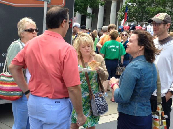 "<div class=""meta ""><span class=""caption-text "">We found several people spending Mother's Day at the Raleigh Food Truck Rodeo (Lori Denberg)</span></div>"