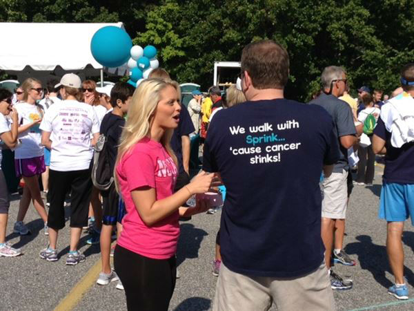 "<div class=""meta image-caption""><div class=""origin-logo origin-image ""><span></span></div><span class=""caption-text"">Hundreds came out to the 11th Annual Gail Parkins Memorial Ovarian Cancer Walk and 5K Run at Sanderson High School in Raleigh on Saturday (WTVD Photo/ Lori Denberg)</span></div>"