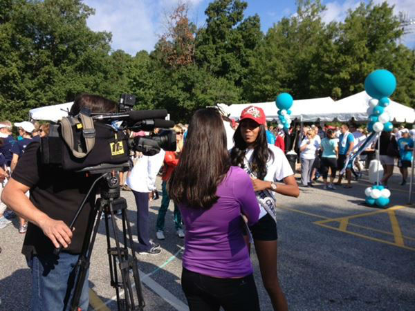 "<div class=""meta ""><span class=""caption-text "">Hundreds came out to the 11th Annual Gail Parkins Memorial Ovarian Cancer Walk and 5K Run at Sanderson High School in Raleigh on Saturday (WTVD Photo/ Lori Denberg)</span></div>"