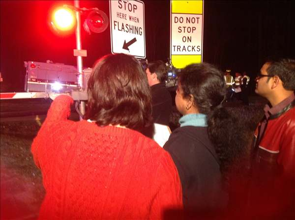 "<div class=""meta ""><span class=""caption-text "">A driver managed to escape her car after it got stuck between the cross arms at the railroad crossing at McCrimmon Parkway and Chapel Hill Road in Morrisville Tuesday evening. (WTVD Photo)</span></div>"