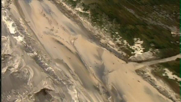 Parts of N.C. Highway 12 remain underwater and damaged after Hurricane Sandy brushed the Outer Banks. <span class=meta>(WTVD Photo&#47; .?;.h??lB??kS?m&#36;??Wk8&#193; ??d?v2???)</span>