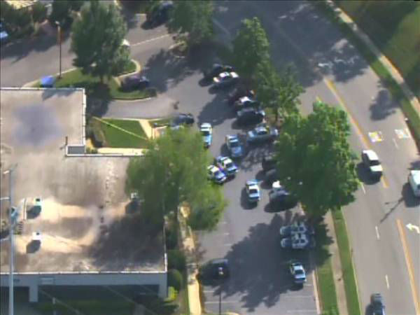 Police were on the scene of the PNC Bank in the 2400 block of Wycliff Road  <span class=meta>(Photo&#47;ABC11 Chopper HD)</span>