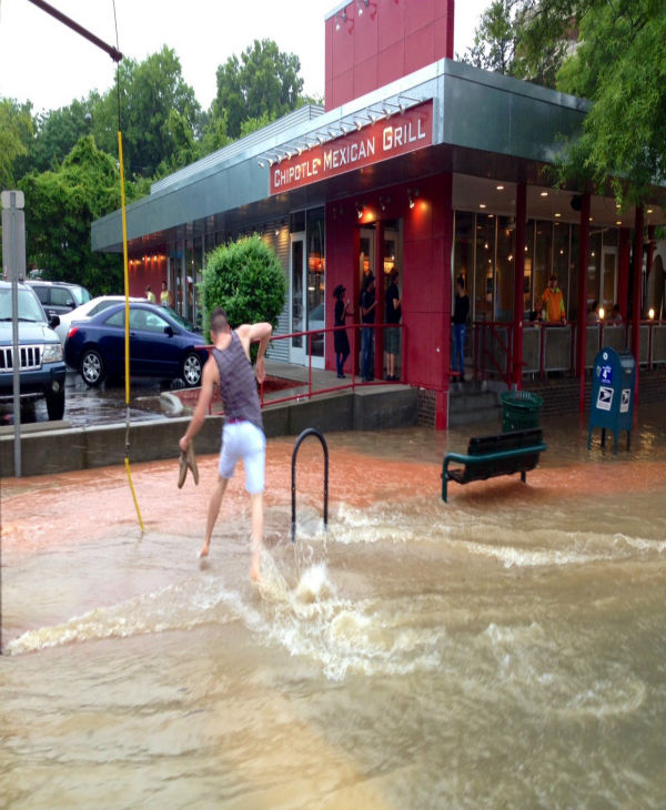 Heavy downpour caused flooding in some areas Sunday <span class=meta>(WTVD Photo)</span>