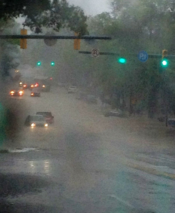 Heavy rain flooded areas in the Triangle on Sunday <span class=meta>(WTVD Photo)</span>