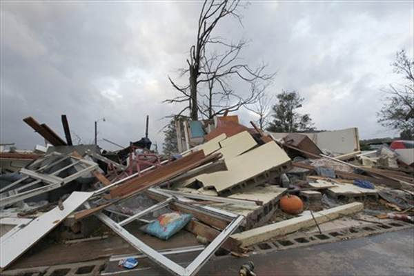"<div class=""meta image-caption""><div class=""origin-logo origin-image ""><span></span></div><span class=""caption-text"">A home destroyed by a storm is shown in Vale, N.C., Wednesday, Oct. 27, 2010 after powerful thunderstorms moved through the area. At least eleven people were hurt and eight homes damaged when a possible tornado touched down in Lincoln County in western North Carolina Tuesday evening, emergency officials said. (AP Photo/Chuck Burton)</span></div>"