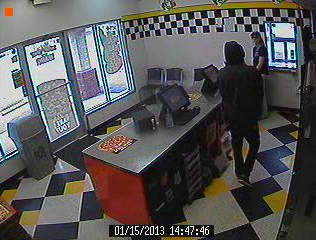 Hope Mills police said a man walked into the Little Caesar&#39;s Pizza Tuesday afternoon and robbed the store with a semi-automatic hand gun around 2:48 p.m. <span class=meta>(WTVD Photo&#47; Hope Mills Police Department)</span>