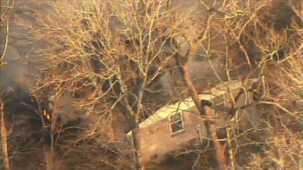 A fire damaged a home in the 1700 block of Foxwood Drive in Garner Thursday afternoon. <span class=meta>(WTVD Photo)</span>