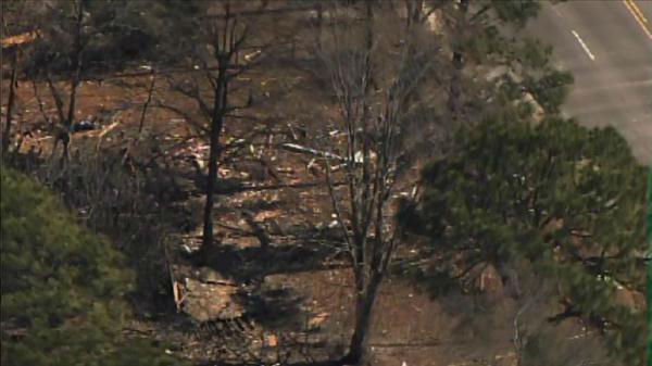 "<div class=""meta ""><span class=""caption-text "">Authorities in Fayetteville are investigating an early Wednesday morning explosion at a vacant home in 3300 block of Cumberland Road.  (Photo/Chopper11 HD)</span></div>"