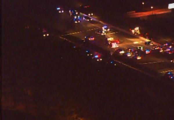 Police said a trooper with the State Highway Patrol was shot in East Durham on U.S. Highway 70 near Interstate 85 Monday evening. <span class=meta>(WTVD Photo)</span>