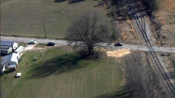 Deputies on scene of incident at Old Stage Road and Field Stream Farm Road in Wake County. <span class=meta>(Photo&#47;Chopper11 HD)</span>