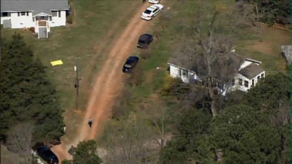 "<div class=""meta ""><span class=""caption-text "">Deputies on scene of incident at Old Stage Road and Field Stream Farm Road in Wake County. (Photo/Chopper11 HD)</span></div>"