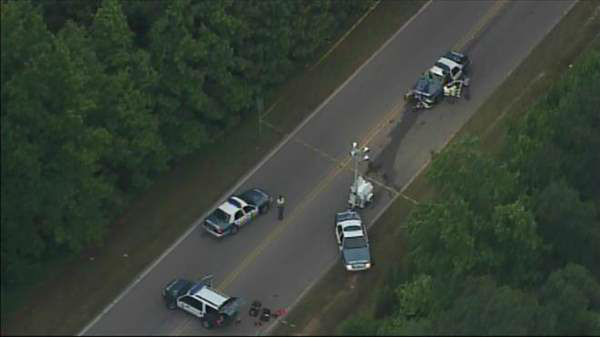 Raleigh police are investigating an early morning accident involving one of their officers. <span class=meta>(Photo&#47;Chopper11 HD)</span>