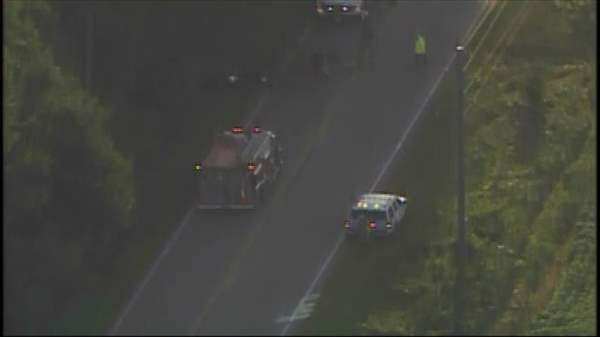 Photos from Chopper 11 HD of a collision on NC-98 at NC-96 in Zebulon early Friday morning.  <span class=meta>(Photo&#47;Chopper11 HD)</span>