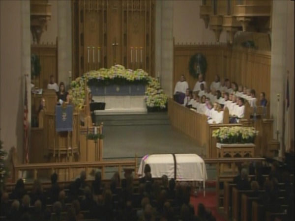 Mourners pay their respects at the Edenton Street United Methodist Church. <span class=meta>(WTVD Photo)</span>