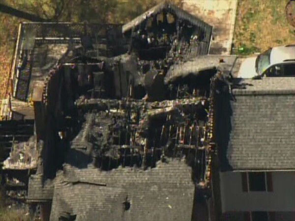 A soldier and his two daughters died in a house fire in Cumberland County early Tuesday morning. <span class=meta>(WTVD Photo&#47; Chopper 11 HD)</span>