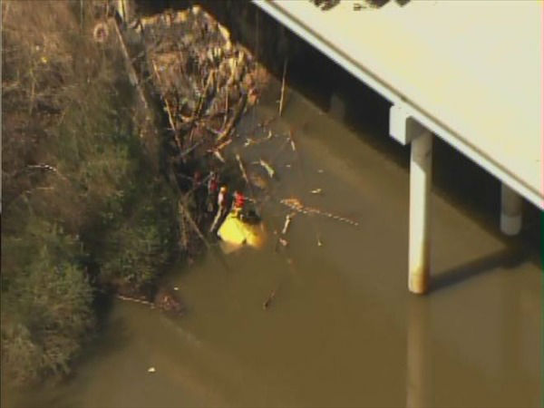 "<div class=""meta image-caption""><div class=""origin-logo origin-image ""><span></span></div><span class=""caption-text"">A truck plunged off the side of a bridge into the Haw River in Chatham County. (WTVD Photo)</span></div>"