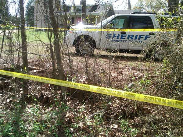 Deputies investigate at a home north of Coats. <span class=meta>(WTVD Photo)</span>