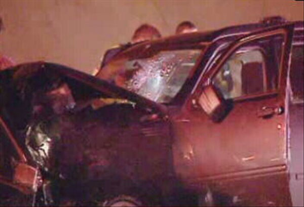 Two vehicles collided head-on in the eastbound lanes of I-440 near Six Forks Road. <span class=meta>(WTVD Photo)</span>