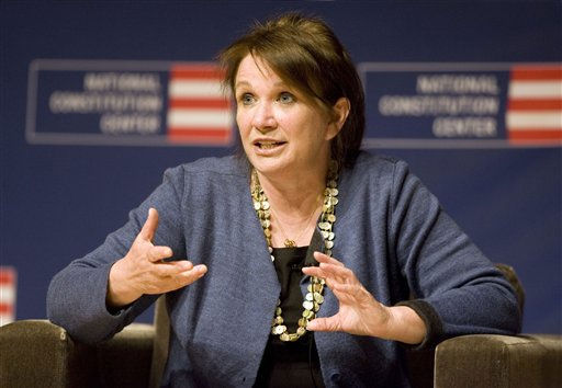 Elizabeth Edwards, the wife of former Sen. John Edwards, speaks to the audience at the National Constitution Center about health care in the upcoming presidential election, Tuesday, Sept. 16, 2008, in Philadelphia.   <span class=meta>(AP Photo&#47; Tom Mihalek)</span>