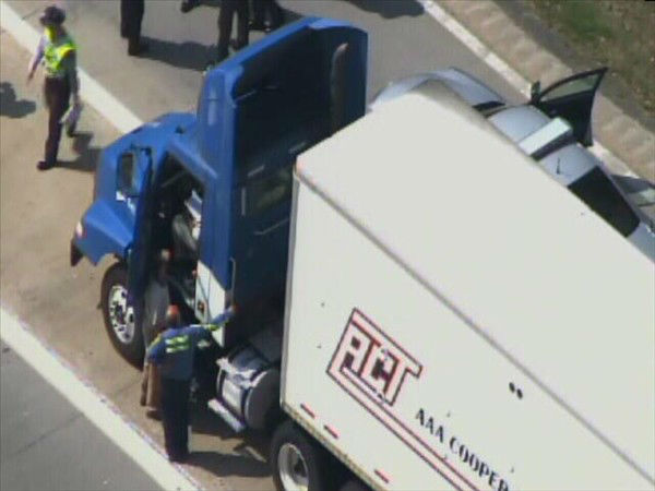"<div class=""meta image-caption""><div class=""origin-logo origin-image ""><span></span></div><span class=""caption-text"">Two eastbound lanes of I-40 were closed Monday morning at Jones Sausage Road after a crash. (WTVD Photo)</span></div>"