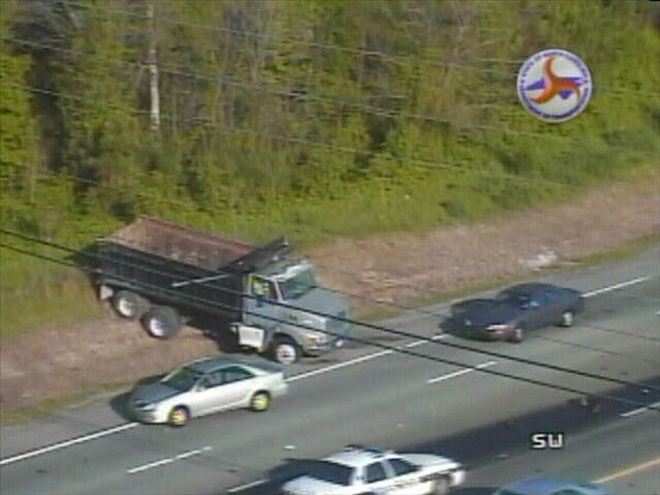 A wreck involving a dump truck shut down lanes of  U.S. 70 East near Exit 286 to Cheek Road in Durham. <span class=meta>(NCDOT Photo)</span>