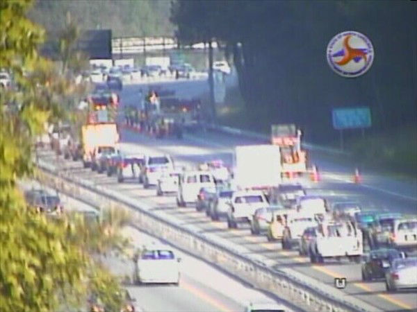 "<div class=""meta ""><span class=""caption-text "">It was a rough commute for Triangle drivers trying to use Interstate 40 Tuesday morning after a series of accidents caused traffic jams. It began with a crash in the westbound lanes near Aviation Parkway that closed three of four lanes. Other wrecks were reported near the Durham Freeway and debris in the roadway at Hammond Rd. also caused problems. (NCDOT Photo)</span></div>"