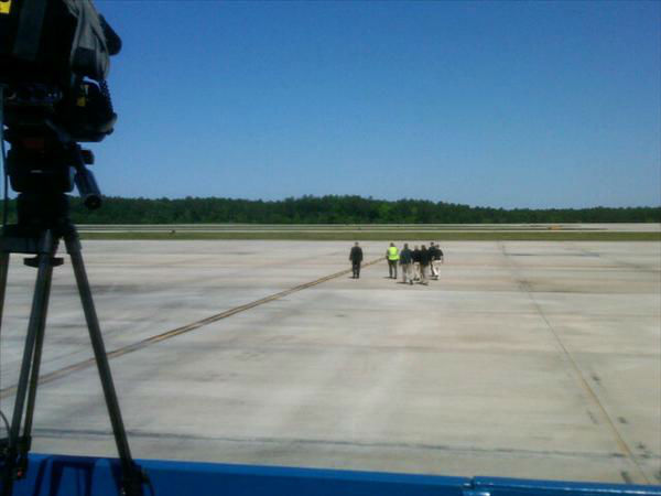 One last sweep of the tarmac at RDU. <span class=meta>(WTVD Photo)</span>