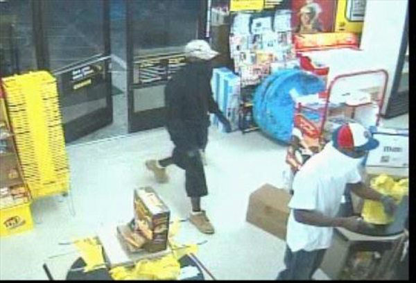 "<div class=""meta image-caption""><div class=""origin-logo origin-image ""><span></span></div><span class=""caption-text"">The Sampson County Sheriff's Office is requesting assistance in identifying two males wanted for the alleged armed robbery of the Dollar General Store in Roseboro, NC, on Thursday, June 21 around 8:48 p.m. Assistance is also needed in identifying a female who allegedly attempted to use a stolen credit card in Fayetteville, NC, which was taken during the armed robbery of the Dollar General Store. Anyone with information regarding the possible identities of the suspects is encouraged to call the Sampson County Sheriff's Office at (910) 592-4141. (WTVD Photo/ Image courtesy Sampson County Sheriff's Office)</span></div>"