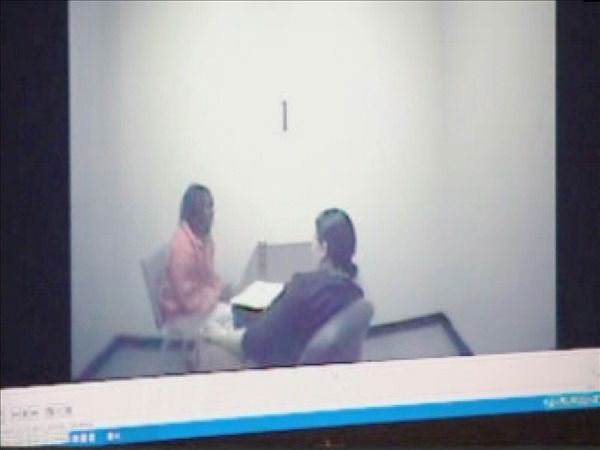 Jurors were shown a video of Mangum speaking to a police investigator right after her arrest last year on seperate domestic violence charges. <span class=meta>(WTVD Photo)</span>